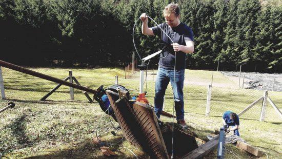 Sestavování kamerové techniky na lokalitě LK-1 Lanšperk.